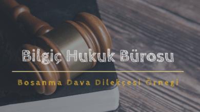 Boşanma Dava Dilekçesi Örneği
